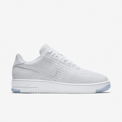 nike air force 1 flyknit low heren wit