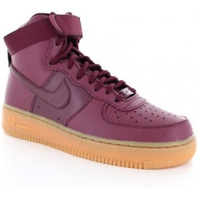 nike air force 1 high dames rood