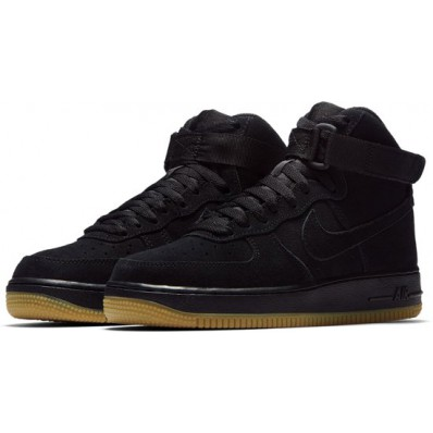 nike air force 1 high zwart wit