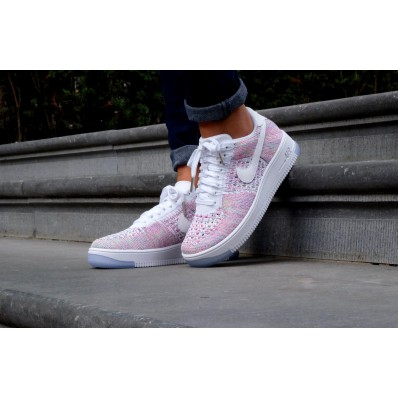 nike air force flyknit roze