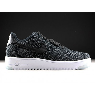 nike air force flyknit zwart wit