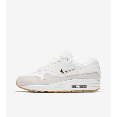 nike air max 1 dames wit goud