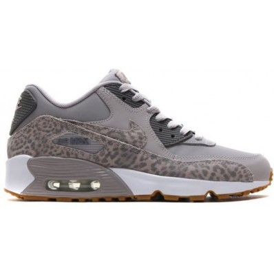 nike air max 90 leather grijs