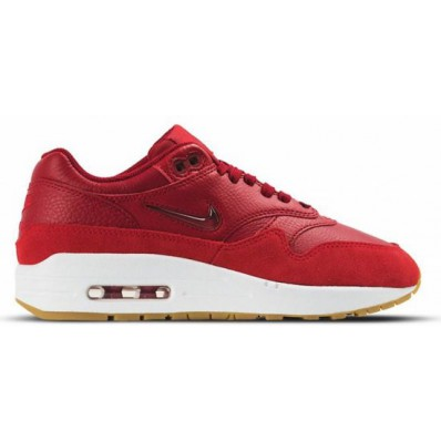 rode nike air max 1 dames