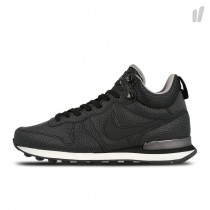 nike internationalist zwart dames leer