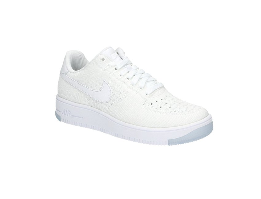 nike air force 1 flyknit low dames wit