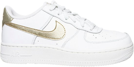 nike air force 1 wit goud dames