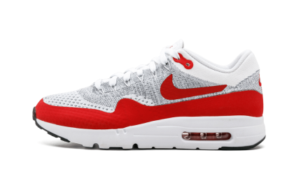 nike air max 1 heren wit rood