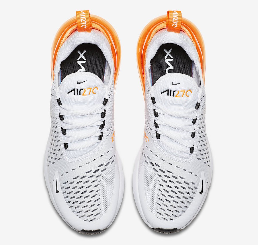 nike air max 270 wit oranje